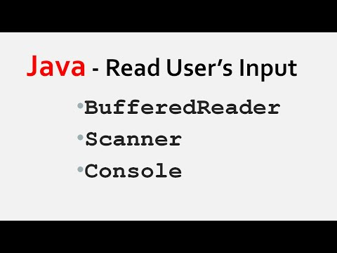 How to Take input From User In Java using BufferedReader, Scanner and Console