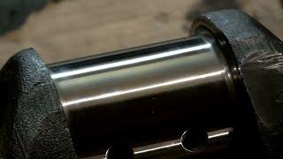Ямз-238 Ручная полировка коленвала Урал лесовоз