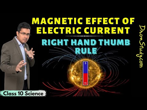 Magnetic Effect of Electric Current Class 10 | Class 10 Science Chapter 13 | Right hand Thumb Rule