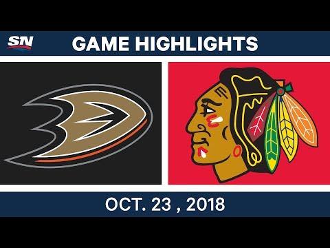 NHL Highlights | Ducks vs. Blackhawks - Oct. 23, 2018