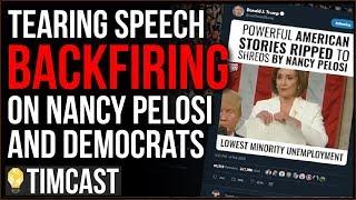 Tearing Trump's Speech BACKFIRES On Democrats As Pelosi DEMANDS Social media Delete Trump'