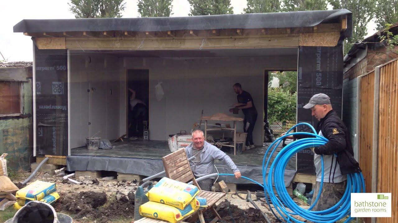 Building a garden room YouTube