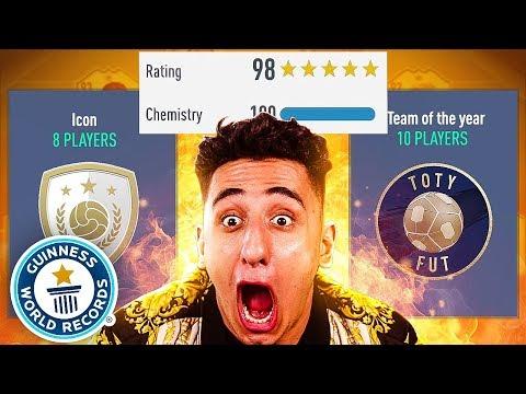 BREAKING EVERY FUTDRAFT WORLD RECORD!!! (FIFA 19)