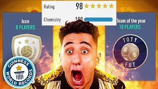 BREAKING EVERY FUTDRAFT WORLD RECORD!!! (FIFA 19)
