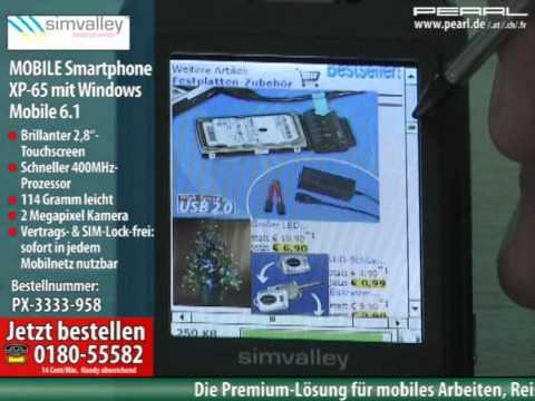 simvalley MOBILE Smartphone XP-65 +NavGear 3D-Navisoftware West-EU,4GB