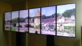 mur d'écrans de 3 mètres de large