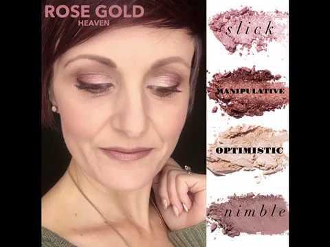 Rose Gold Eyeshadow Look Moodstruck Pressed Shadow Palette Youtube