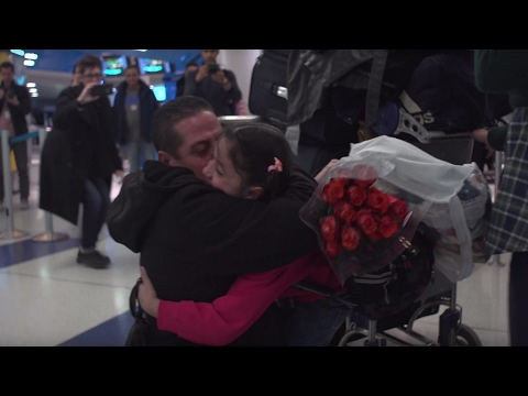 A heartbreaking story: Tears of joy as Syrian family is reunited despite Trump travel ban