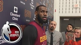 LeBron James reacts to Cavaliers' ongoing struggles | ESPN