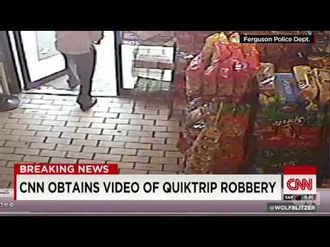 CCTV Video of Quiktrip robbery when Michael Brown shot at Ferguson, Missouri