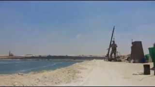 أول فيديو حصرى لتمثال العامل المصرى فى قناة السويس الجديدة