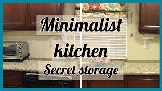 Minimalist Kitchen | Clutter Free Counters | Storage Tip