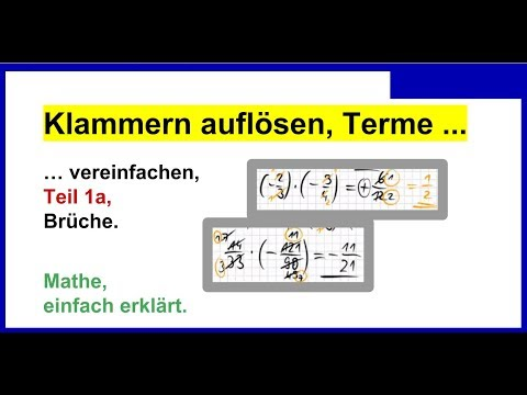 Klammern auflösen, Terme vereinfachen, auch Rationale Zahlen, Teil ...