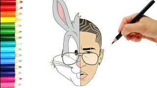 Como Dibujar a Bad Bunny  😱 😱 😱 Bad Bunny speed Paint