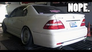 Why to Never Put a Slammed Car on The Dyno.