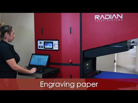 3D CO2 Industrial Workhorse Engraving Paper - Radian Laser Systems