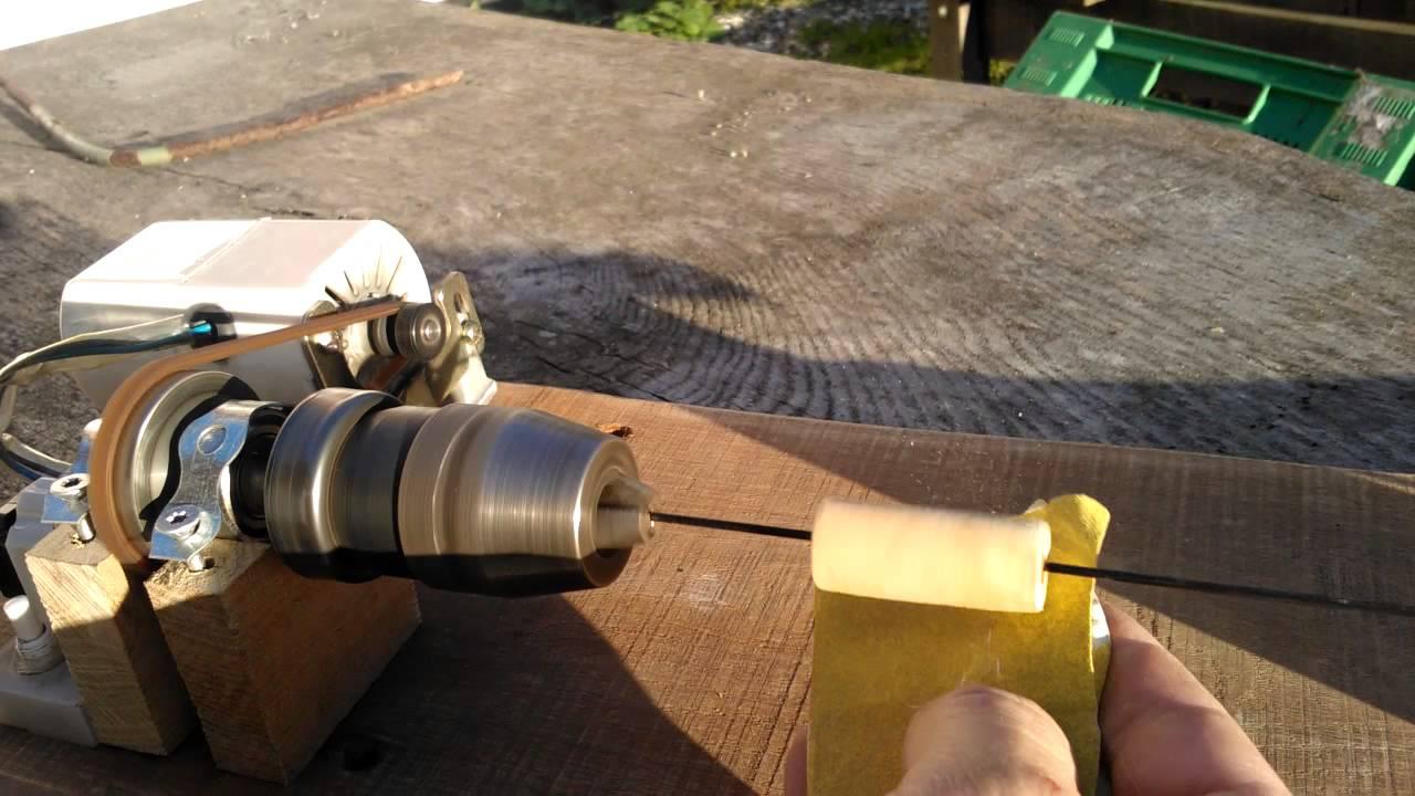 Mini lathe for making fishing floats vid02 finished job ...