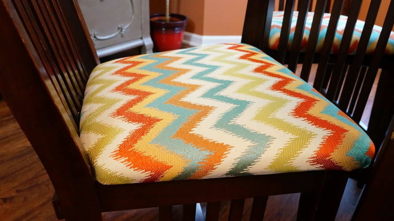 cheap seat cushions for chairs rocking chair nursery how to recover diy youtube