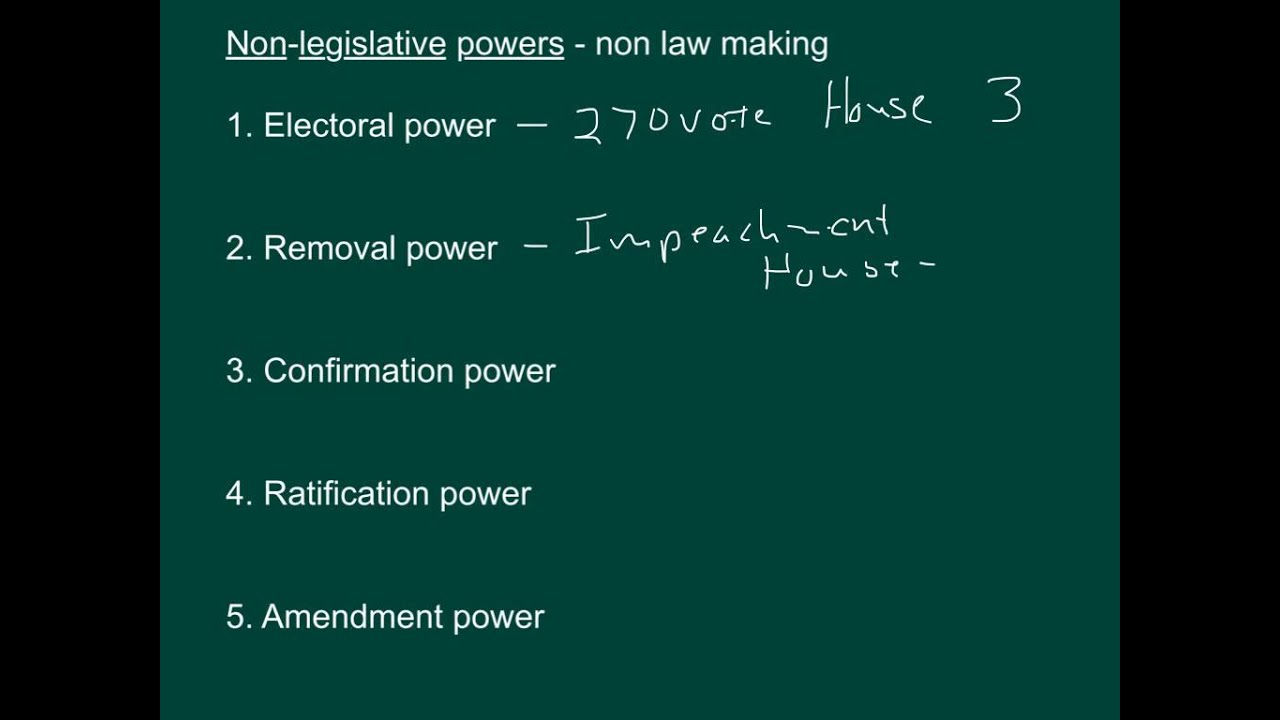 what are non legislative powers of congress