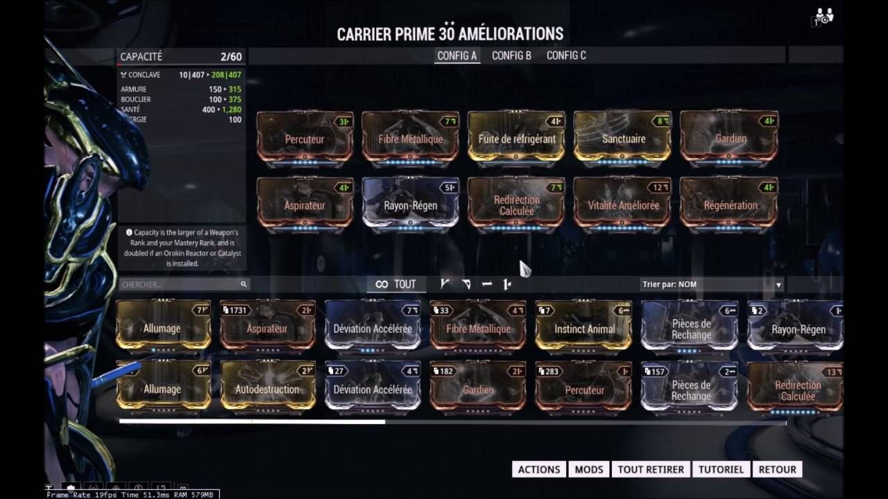 Best Carrier Build Warframe