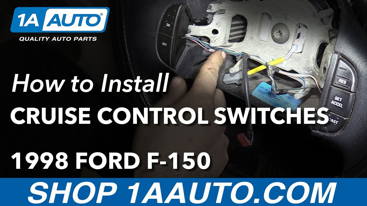 How To Replace Cruise Control Switches 97 04 Ford F 150 Youtube