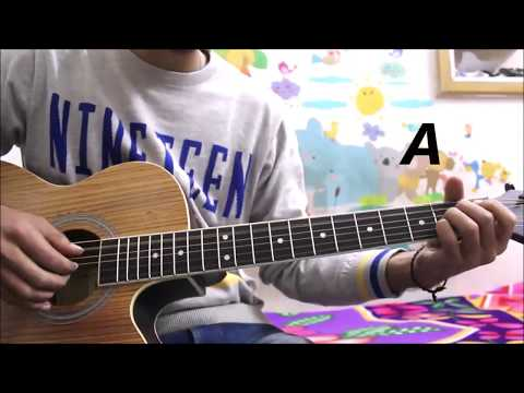 Sakhiyaan - Maninder Buttar - Guitar Cover lesson Chords Easy Open chords