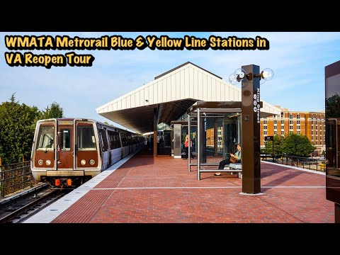 WMATA Metrorail Blue & Yellow Line Stations In VA Reopen Tour