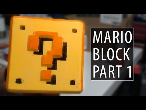 3D Printing / Sanding / Painting the Super Mario Question Block: Part 1