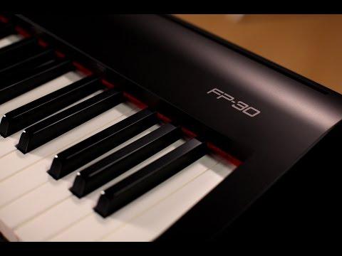 roland fp 25 digital piano bundle pianodigital. Black Bedroom Furniture Sets. Home Design Ideas