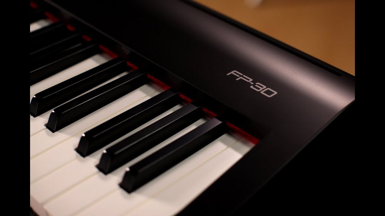 Roland Fp 30 Digital Piano Demo With Alicia Baker Youtube