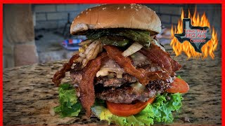 Jalapeno Bacon Cheese Burger | Hamburgers On The Blackstone Griddle