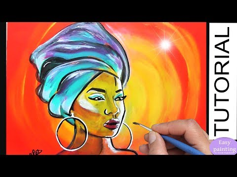 How To Paint AFRICAN Woman. AFRICA MASAI PORTRAIT Painting Tutorial Step By Step