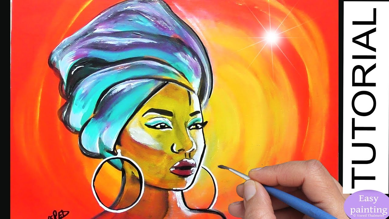 How to paint AFRICAN Woman. AFRICA MASAI PORTRAIT Painting Tutorial ...