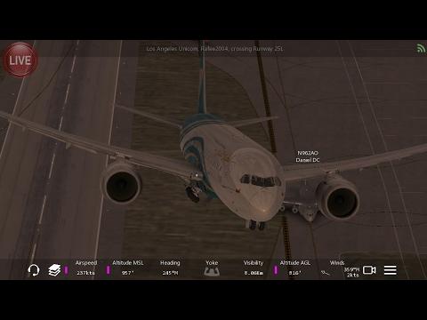 Flight Simulators broadcast.  Oman Air Boeing-787-8/Takeoff Form(Los Angeles IntI)Airport.