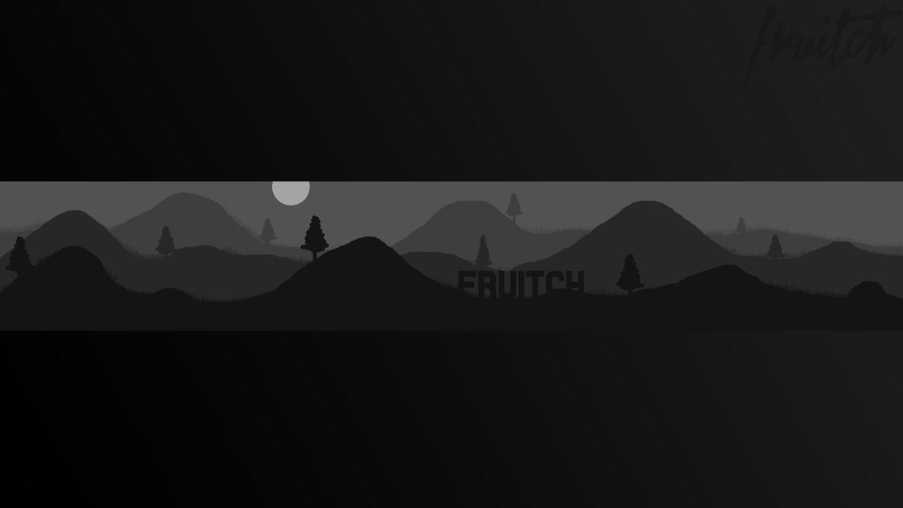Free Mountain Range Gray Banner Template Youtube