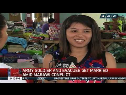 Soldier, evacuee marry amid Marawi conflict