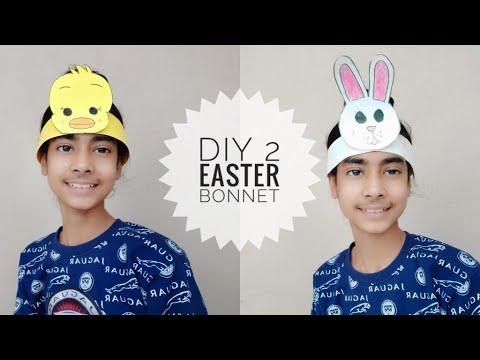 How to make Easter bonnet / DIY 2 Easter Bonnet/ hat | easy paper hat and bonnet