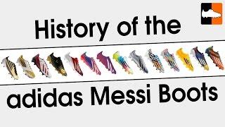 Complete lionel messi adidas f50 adizero football boot history