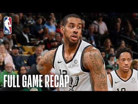 Sports Desk - Aldridge leads Spurs to victory over the Celtics