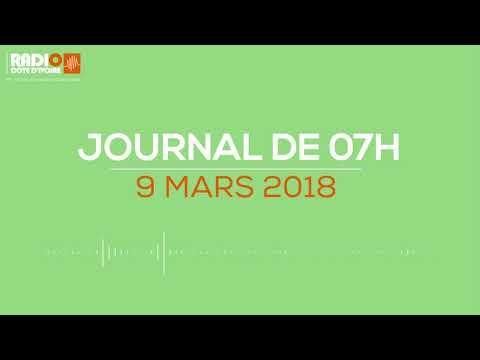 Le journal de 07h00 du 9 mars 2018 - Radio Côte d'Ivoire