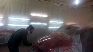 Покраска авто цвет красный металлик(Это видео о том, какую я рекомендую последовательность действий при покраски автомобиля. Есть вопрос -..., 2016-10-03T16:16:46.000Z)