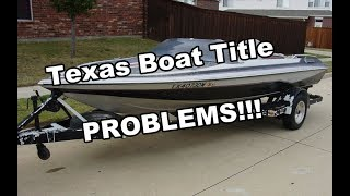 Buying a boat in Texas without a title? Watch this!