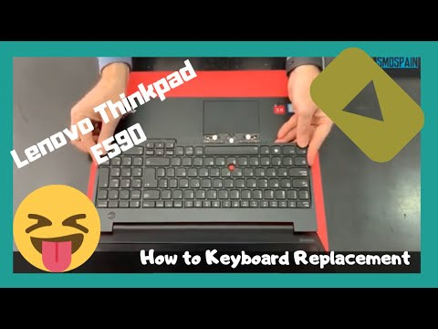 Lenovo Thinkpad E590 How To Keyboard Replacement Disassembly