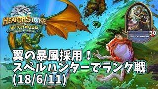 【ハースストーン】翼の暴風採用!スペルハンターでランク戦(18/6/11)