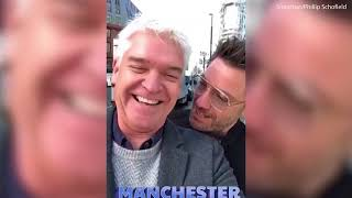 Phillip Schofield enjoys wild night partying with Gino D'Acampo