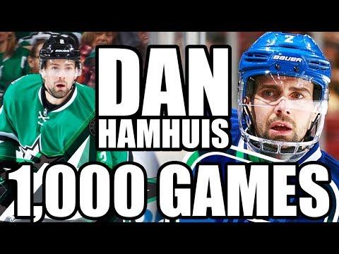 A Congratulations To Dan Hamhuis For 1,000 NHL Games! (Vancouver Canucks, Dallas Stars, Predators)