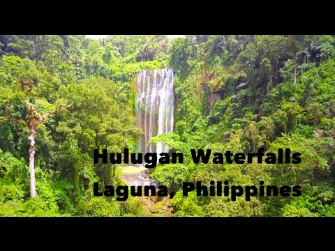 The most Beautiful Waterfalls near Manila: Hulugan Waterfalls in Laguna (Drone Footage)
