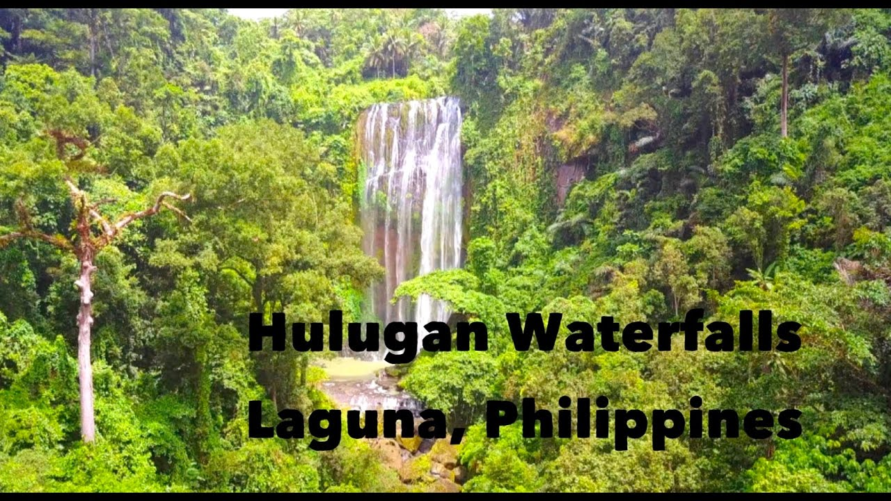 The Most Beautiful Waterfalls Near Manila Hulugan Waterfalls In Laguna Drone Footage Youtube