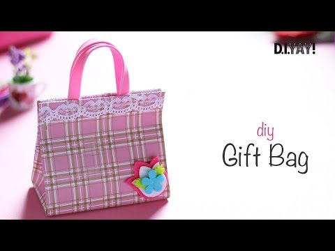 DIY Paper Gift Bag | Paper Gift Box | Gift Wrapping Ideas