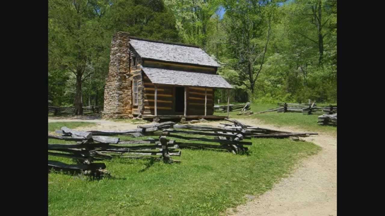 smoky mountain a woods the cabin is in park by surrounded cabins photo historic national stock
